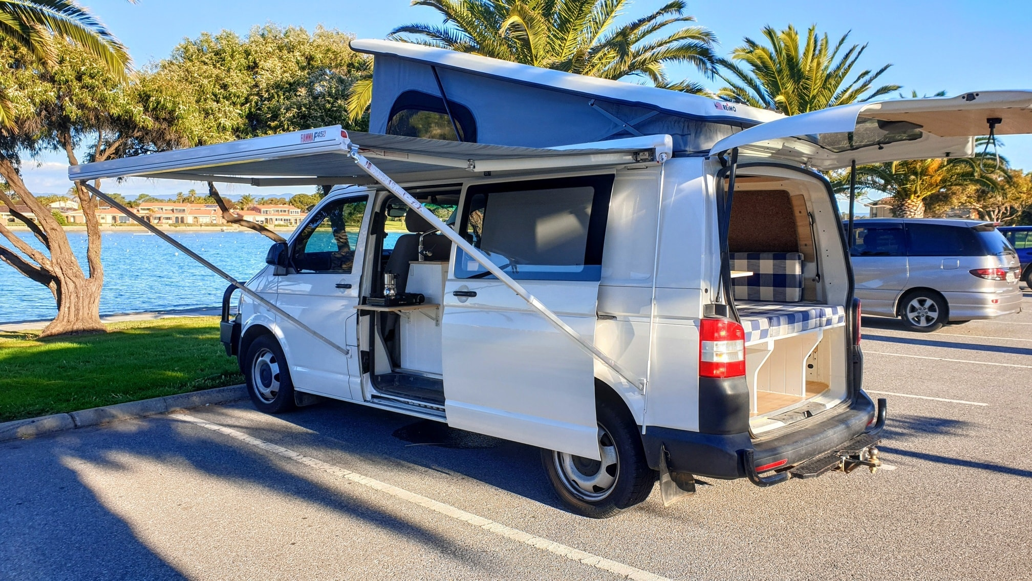 VW T5 Campervan with POP-UP roof conversion - The ...